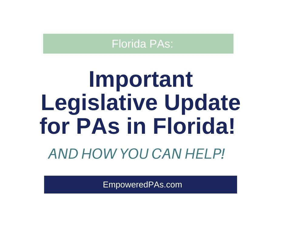 Florida PAs: FAPA needs your help….STAT!